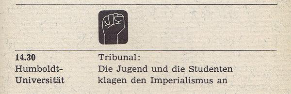 Tribunal: Die Jugend und die Studenten klagen den Imperialismus an