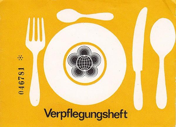 X. Weltfestspiele 1973 Verpflegungsheft mit Wertmarken
