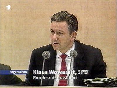 Klaus Wowreit, Regierender Bürgermeister Berlin, Bundesratspräsident