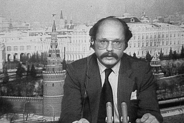 Dirk Sager im ZDF-Studio Moskau vermutlich Anfang der 80er Jahre | Bildschirmfoto: © ZDF