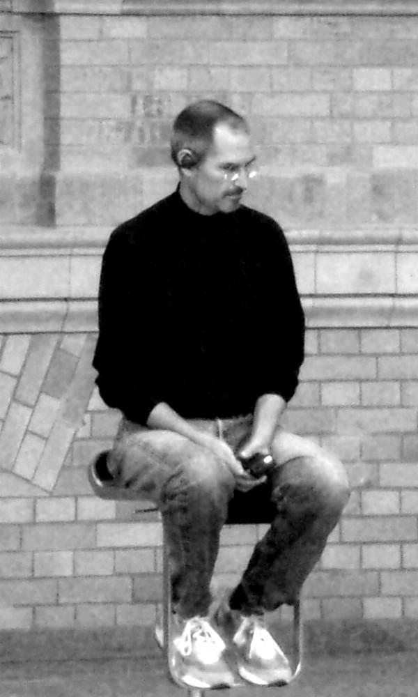 Steve Jobs bei der Präsentation des ersten iPhones 2007 in Berlin | Foto: © Jörg Wagner