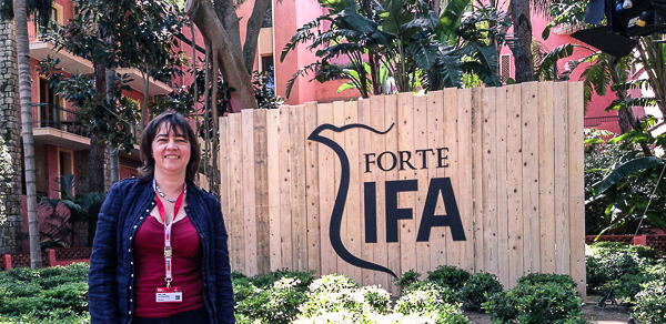Vera Linß im IFA-Camp auf Sardinien