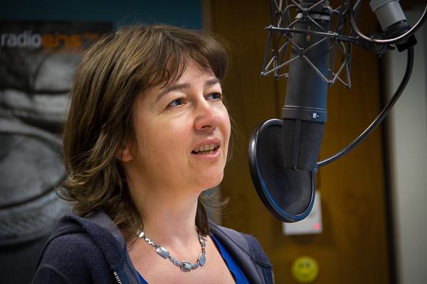 Vera Linß im radioeins-Studio