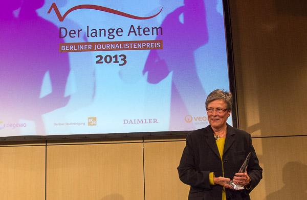 Simone Wendler bei der Preisübernahme