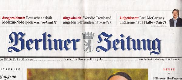 Berliner Zeitung vor der Kampagne