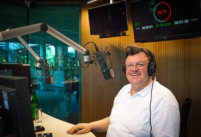 Johannes Beermann im radioeins-Sendestudio