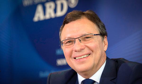 Volker Herres am 24.06.2014 bei einer ARD-Pressekonferenz in Frankfurt/Main