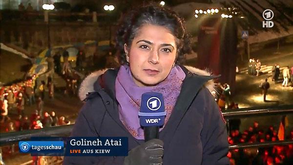 Golineh Atai am 20.02.2015 in der tagesschau