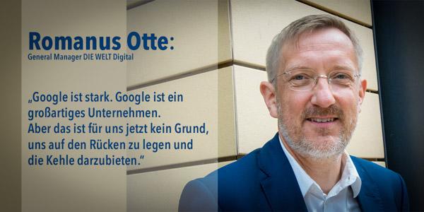 Romanus Otte, General Manager DIE WELT Digital | Foto: © Jörg Wagner