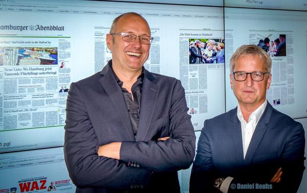 Chefredakteur Online Thomas Kloß - Leiter Zentralredaktion Jörg Quoos