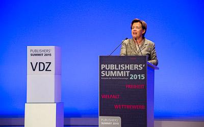 Vortrag am zweiten Tag des Publishers' Summit im bcc