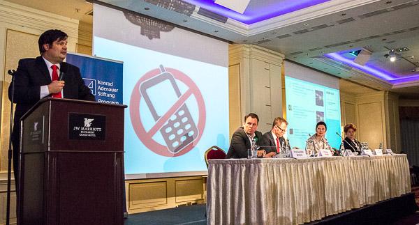 Oliver Vujovic führte durch die Konferenz