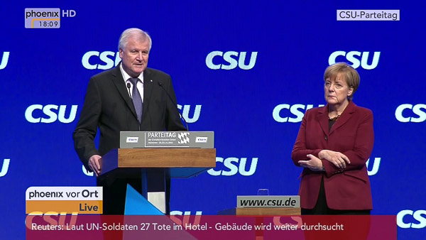 Horst Seehofer - Angela Merkel - 20.11.2015