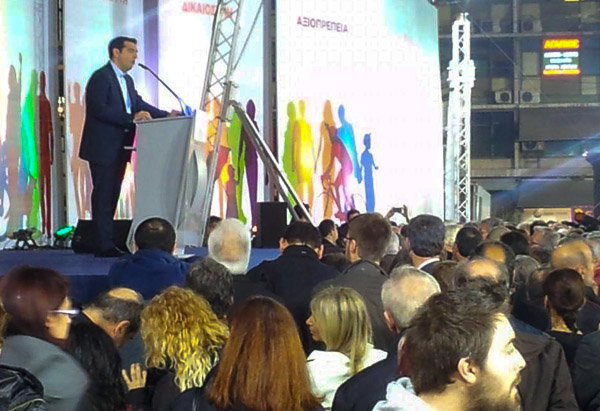 Wahlveranstaltung der Partei Syriza am 22.01.2015