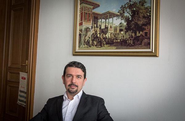 "Oktay Yaman in der Berliner ""Zaman""-Redaktion"