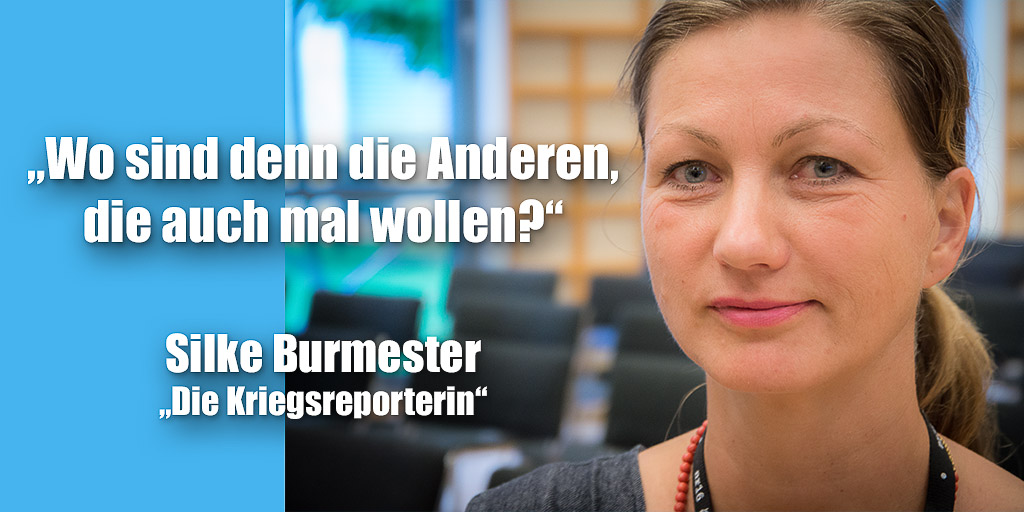 Silke Burmester während der netzwerk-recherche-Jahreskonferenz 2016 | Foto: © Jörg Wagner
