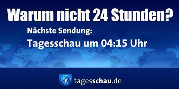 Warum nicht 24 Stunden? | Grafikvorlage: ARD