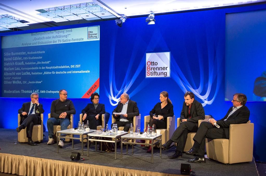 Diskussion während der medienpolitischen Tagung der Otto-Brenner-Stiftung in Berlin