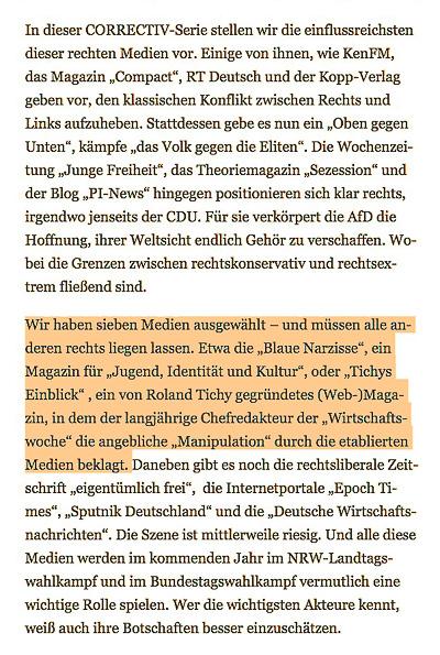 "Auszug ""Futter für AfD-Wähler"" - correctiv.org - 27.12.2016"