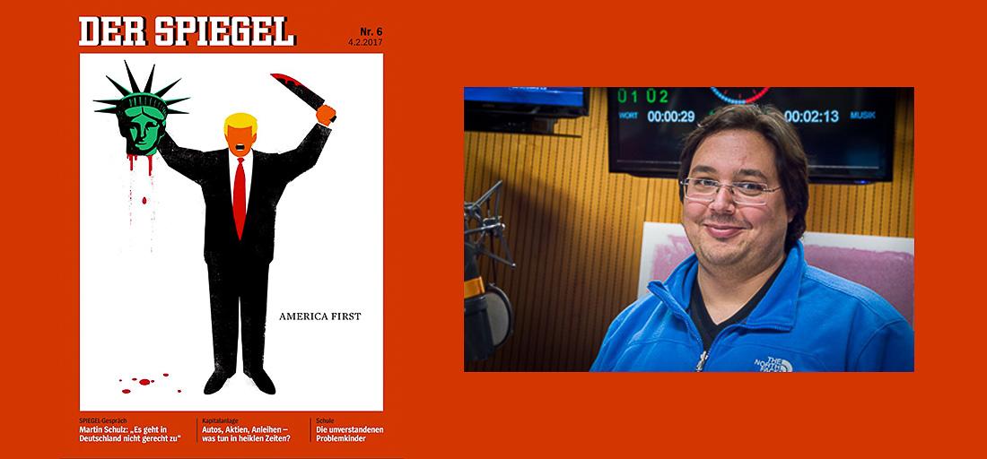 Spiegel-Cover 06/2017 - Daniel Bouhs im radioeins-Studio