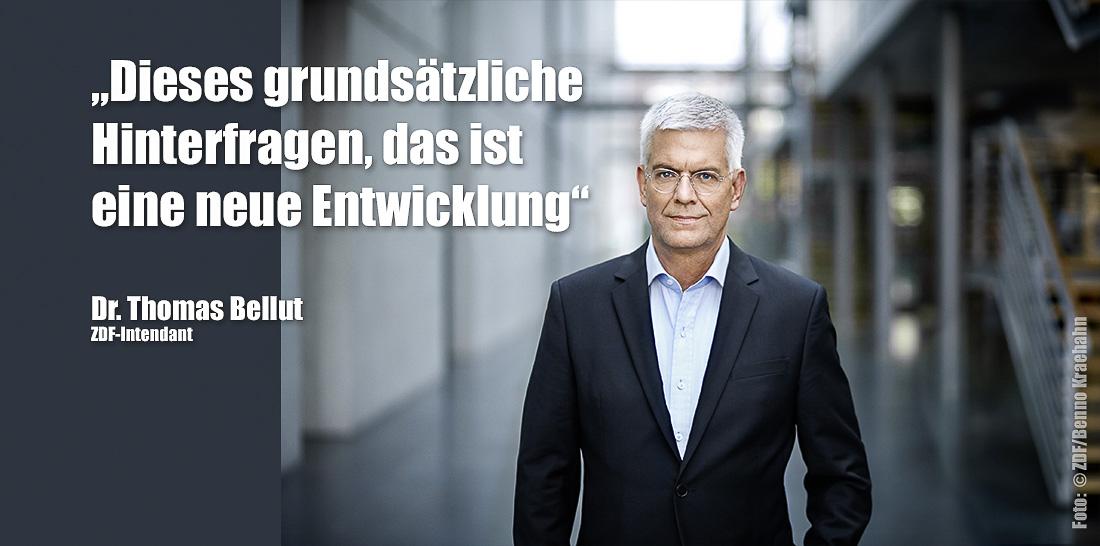 Dr. Thomas Bellut | Foto: © ZDF/Benno Kraehahn