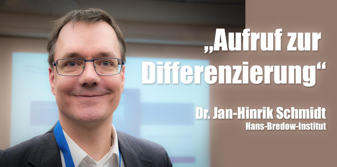 Dr. Jan-Hinrik Schmidt | Foto: © Jörg Wagner