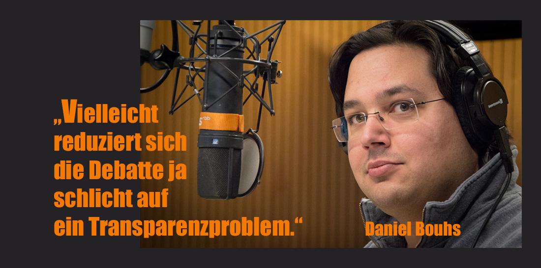 Daniel Bouhs im radioeins-Sendestudio | Foto: © Jörg Wagner