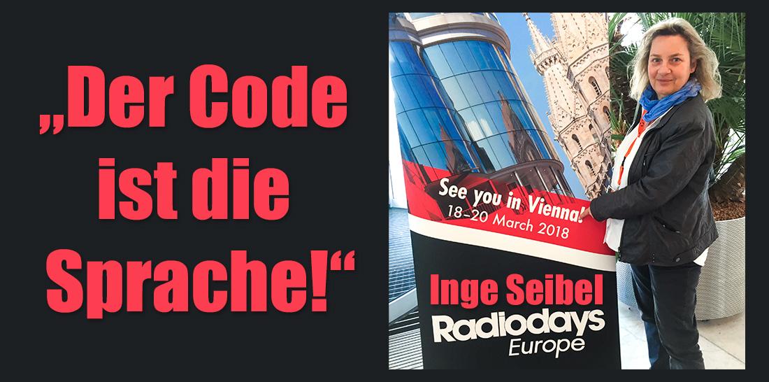 Inge Seibel in Amsterdam bei den 8. Radiodays Europe | Foto: © privat
