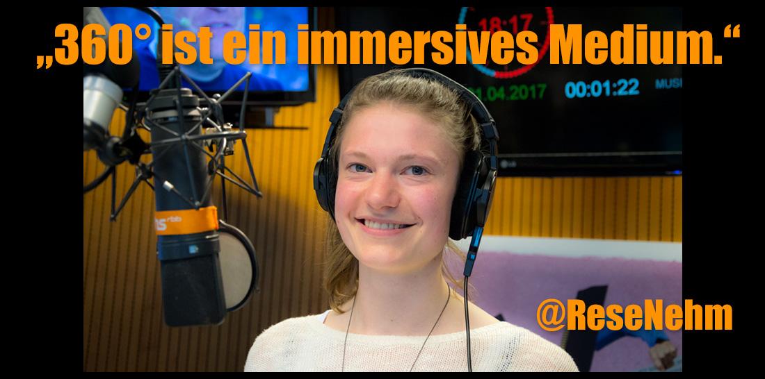 Teresa Nehm im radioeins-Sendestudio | Foto: © Jörg Wagner