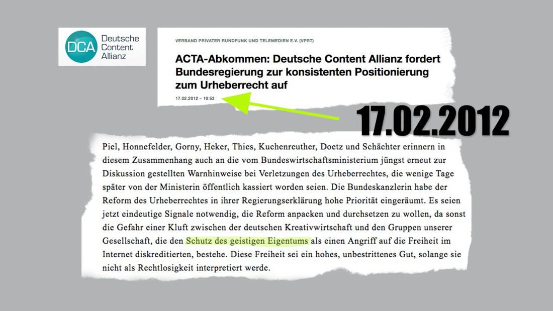 """Dauerthema: """"Schutz des geistigen Eigentums"""""""