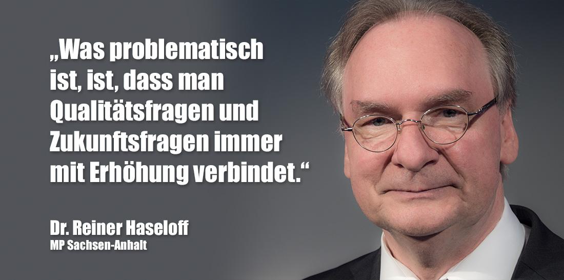 Dr. Reiner Haseloff | Foto: © Jörg Wagner