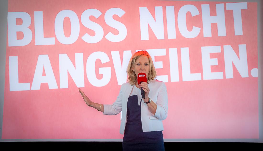 Patricia Schlesinger während der Präsentation der neuen Marketingkampagne am 29.08.2017| Foto: © Jörg Wagner
