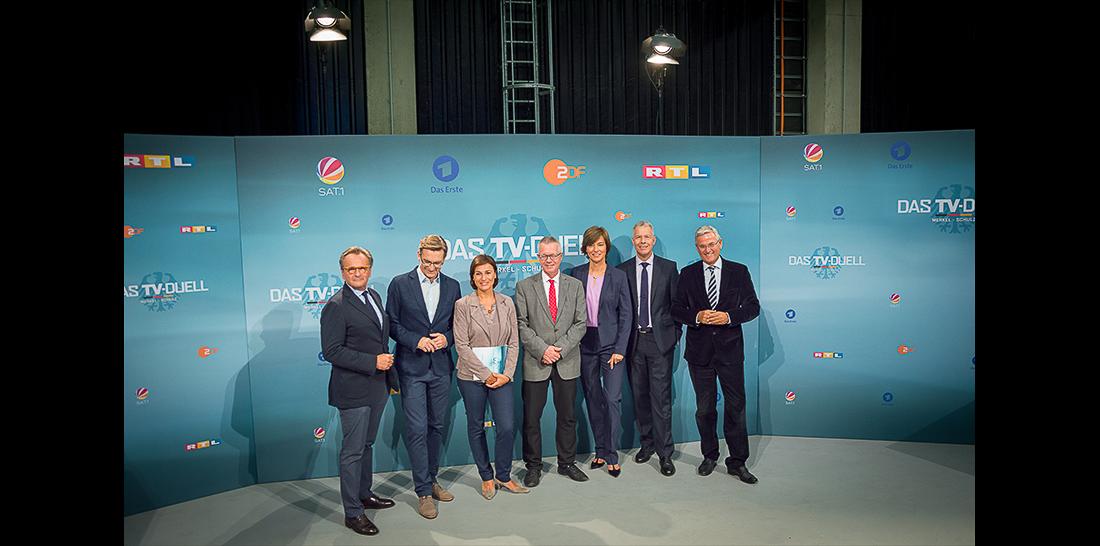 Hans-Peter Hagemes - Claus Strunz - Sandra Maischberger - Rainald Becker - Maybrit Illner - Peter Kloeppel - Peter Frey | Foto: © Jörg Wagner