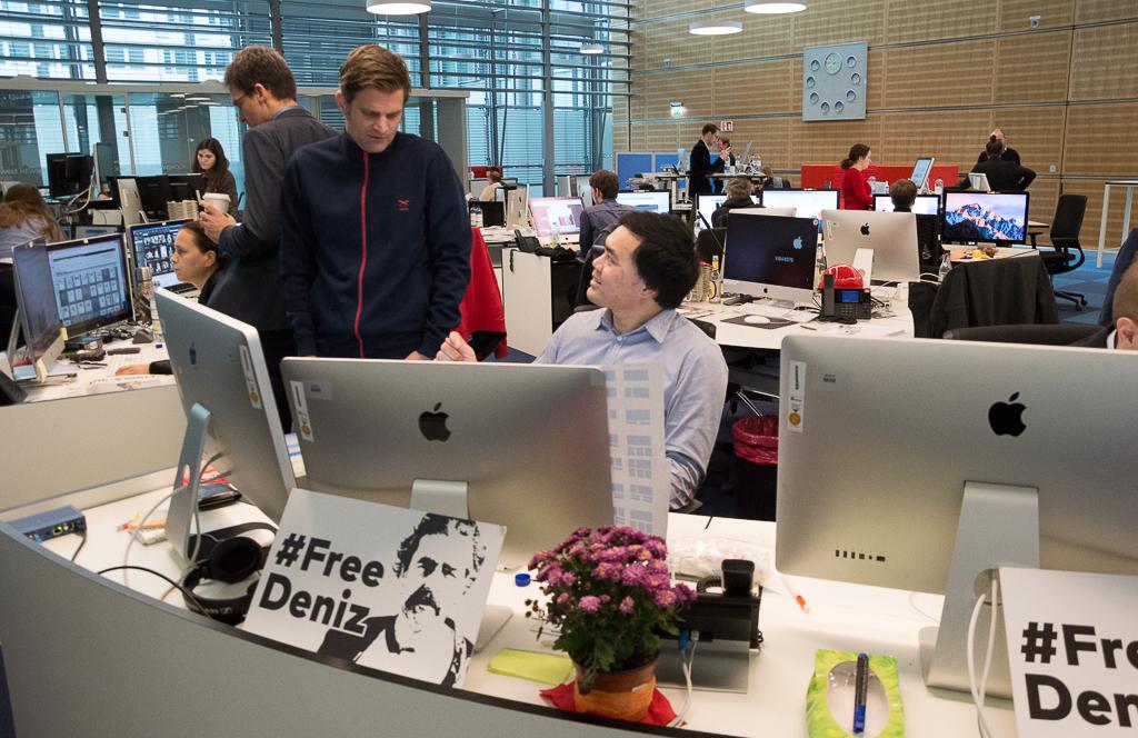 #FreeDeniz im Welt-Newsroom  | Foto: © Jörg Wagner