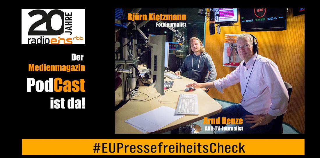 Björn Kietzmann - Arnd Henze im radioeins-Sendestudio | Foto: © Jörg Wagner