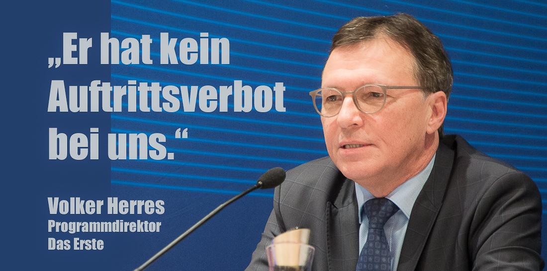 Volker Herres während der ARD-Pressekonferenz am 29.11.2017 in Leipzig | Foto: © Jörg Wagner