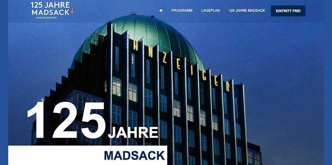 Screenshot: Webseite zum 125jährigen Madsack-Firmenjubiläum