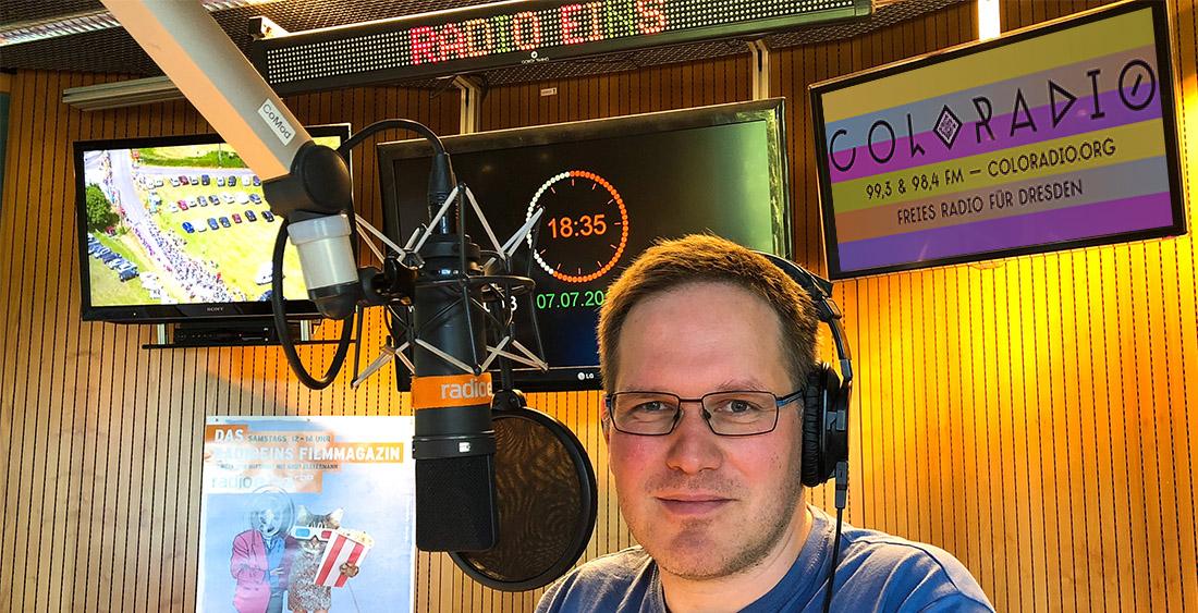 Jenz Steiner im radioeins-Studio | Foto [M]: © Jörg Wagner