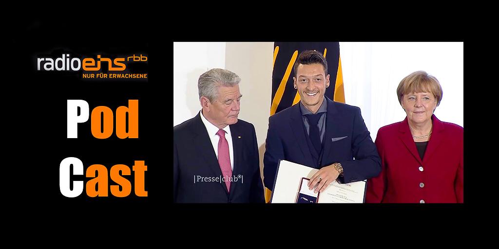 Joachim Gauck - Mesut Özil - Angela Merkel am 10.11.2014