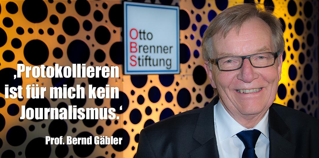 Bernd Gäbler | Foto: © Jörg Wagner