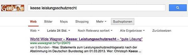 Screenshot: Google